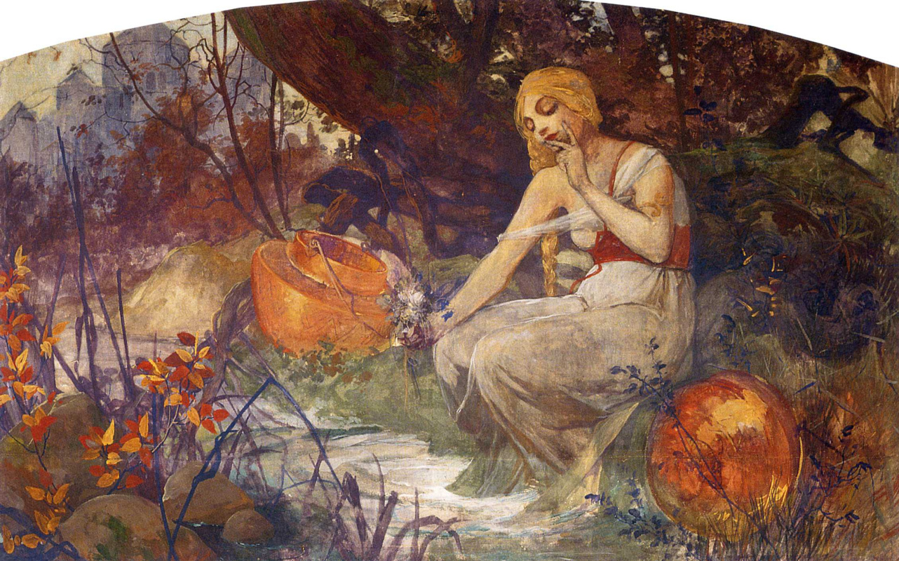Alfons Mucha. The prophetess