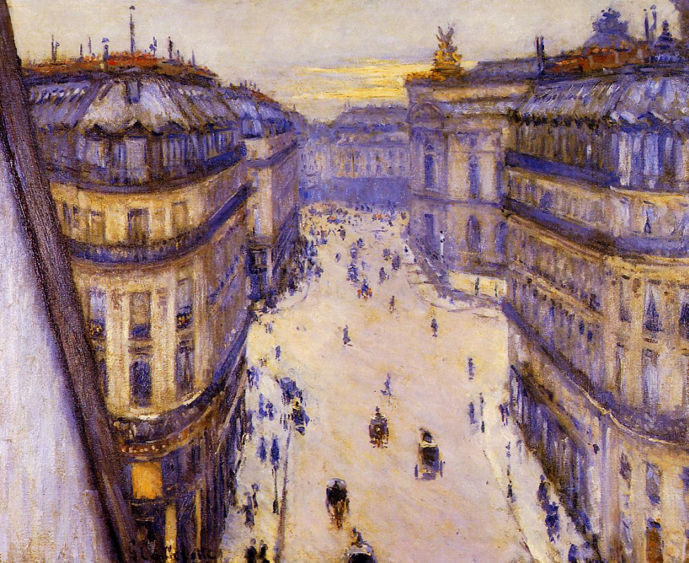 Gustave Caillebotte. Views Halevy, from the sixth floor