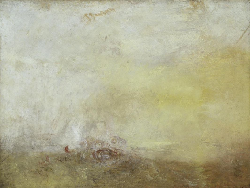 Joseph Mallord William Turner. Sunrise with sea monsters