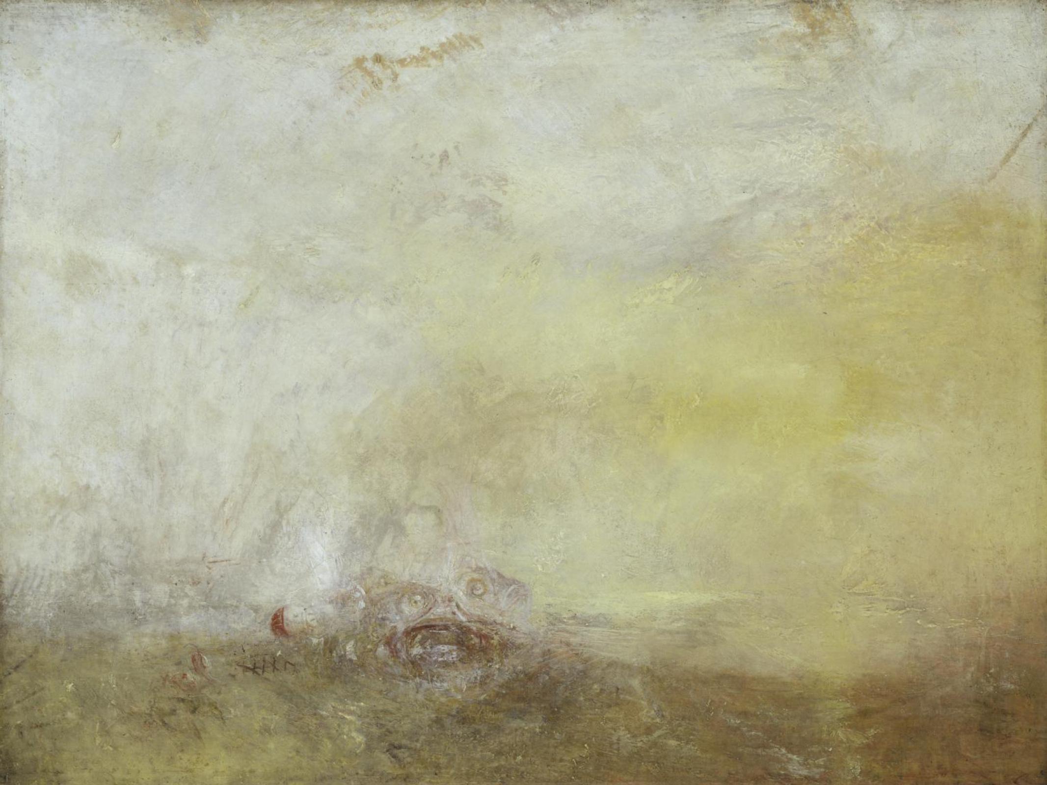 Джозеф Мэллорд Уильям Тёрнер. Восход солнца с морскими чудовищами