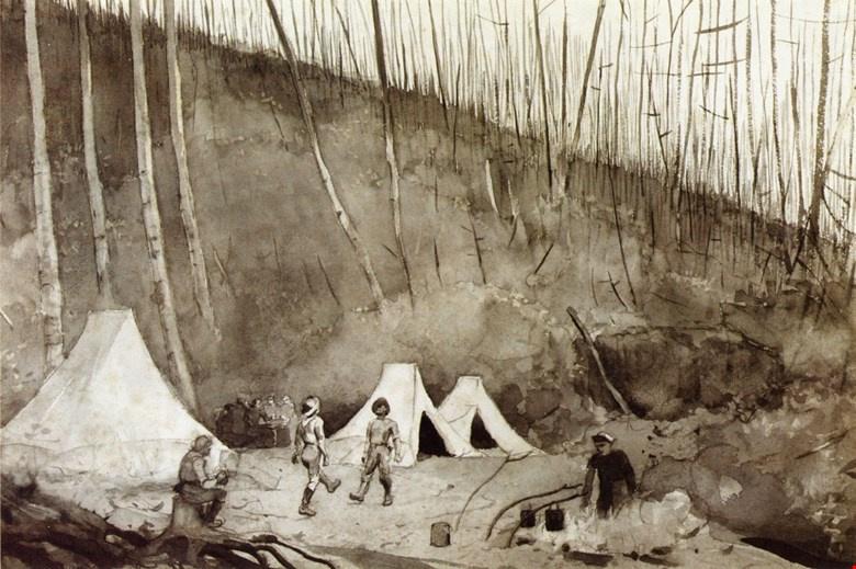 Winslow Homer. Dance of the lumberjacks