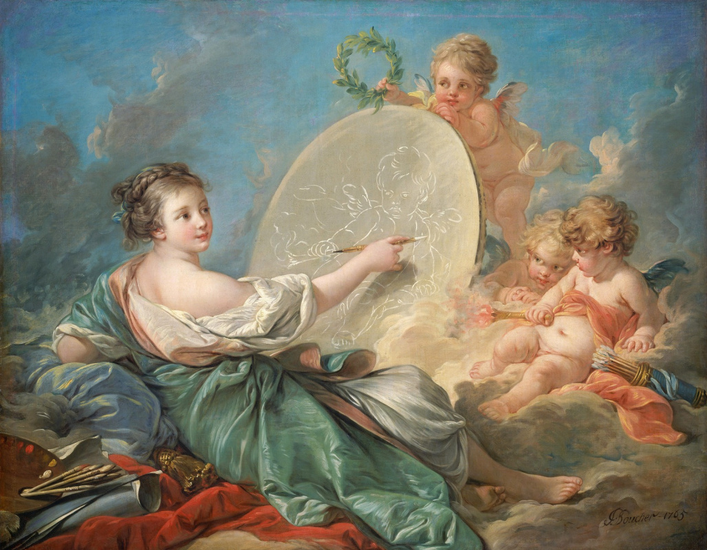 Francois Boucher. Allegory of art