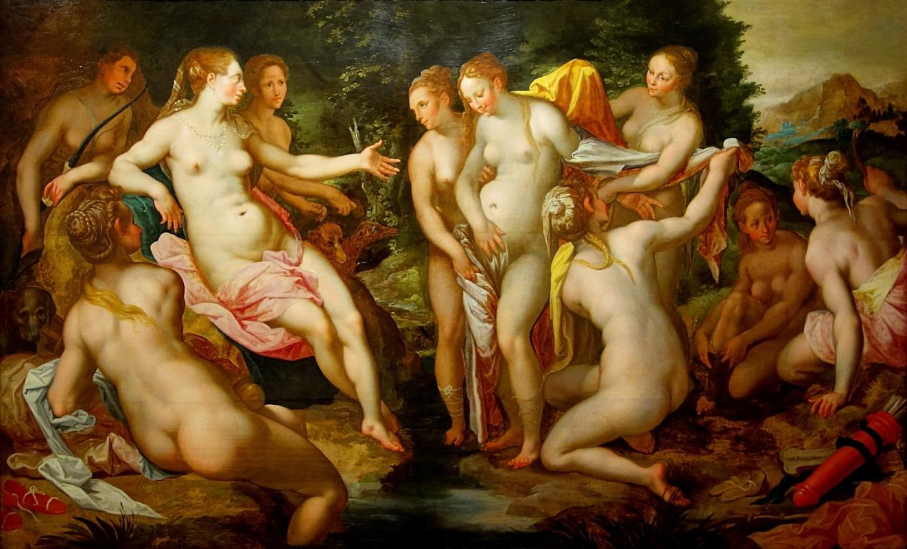 Хендрик Гольциус. Диана обнаруживает беременность Каллисто. 1599