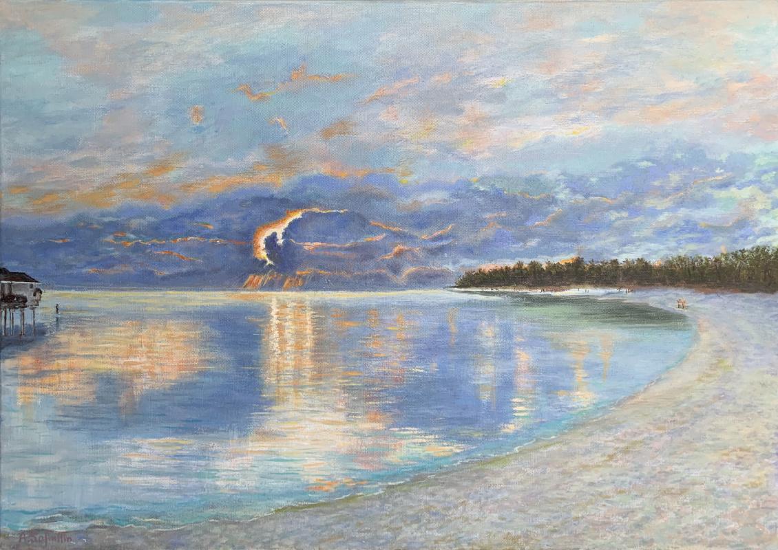 Albert Safiullin. Sunset in the Indian Ocean