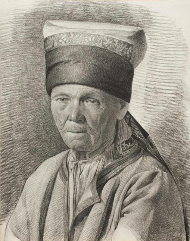 Maria Alekseevna Polenova (Voeikova). An old woman in northern peasant clothes