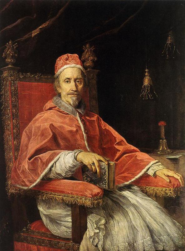 Карло Маратта. Портрет папы Климента IX