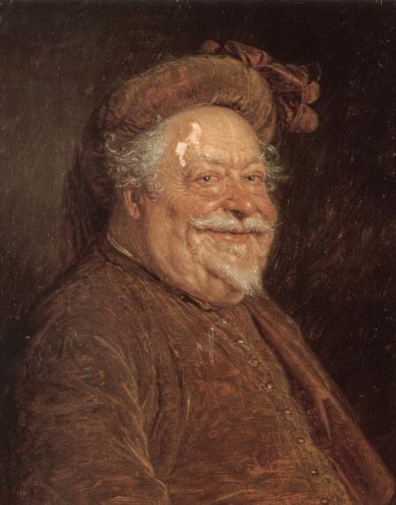 Эдуард Грутцнер. С кружкой пива (фрагмент)