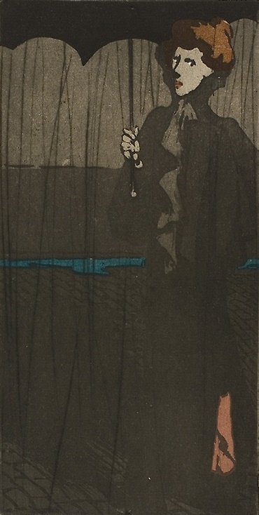 Theophile-Alexander Steinlen. The shower