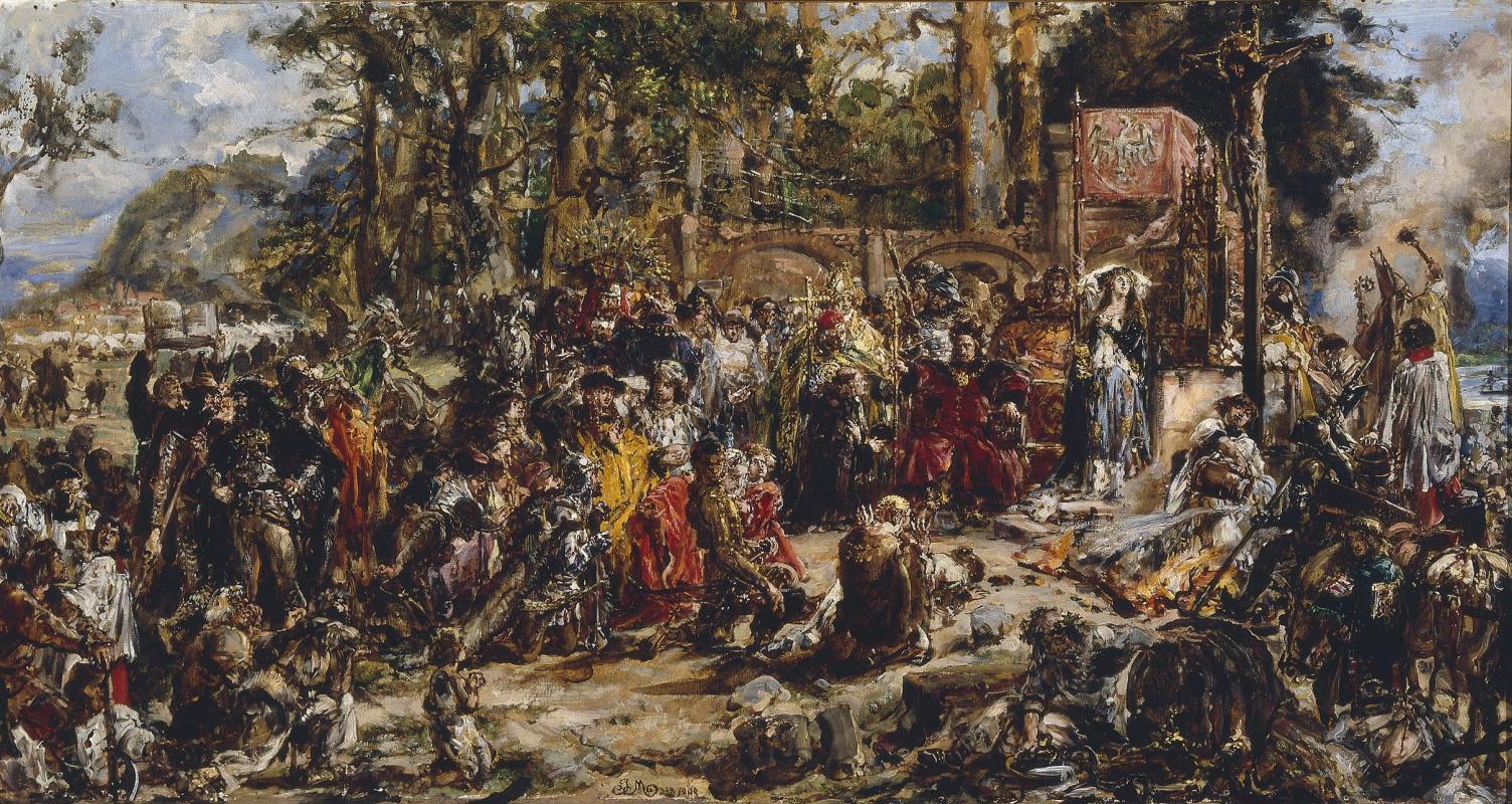 Ян Матейко. Христианизация (крещение) Литвы в 1387 году