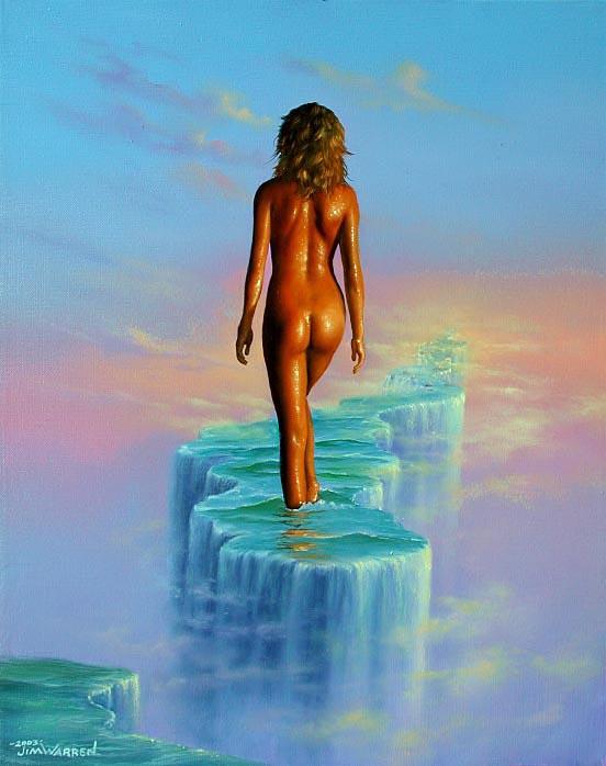 Джим Уоррен. Обнаженная девушка в воде