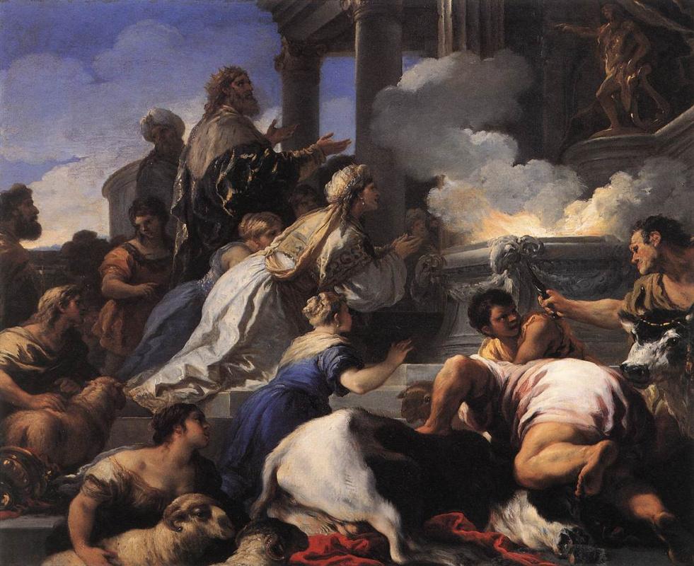 Luca Giordano. The parents of psyche sacrificing to Apollo