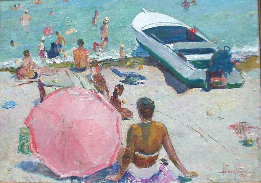 Albin Stanislavovich Gavdzinsky. On the beach