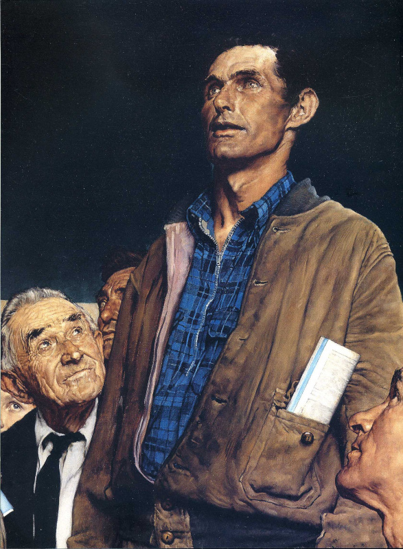 Norman Rockwell. The four freedoms. Freedom of speech