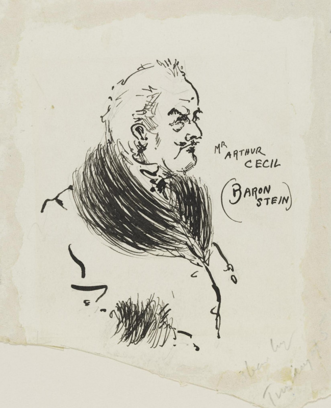 Aubrey Beardsley. Mr. Arthur Cecil