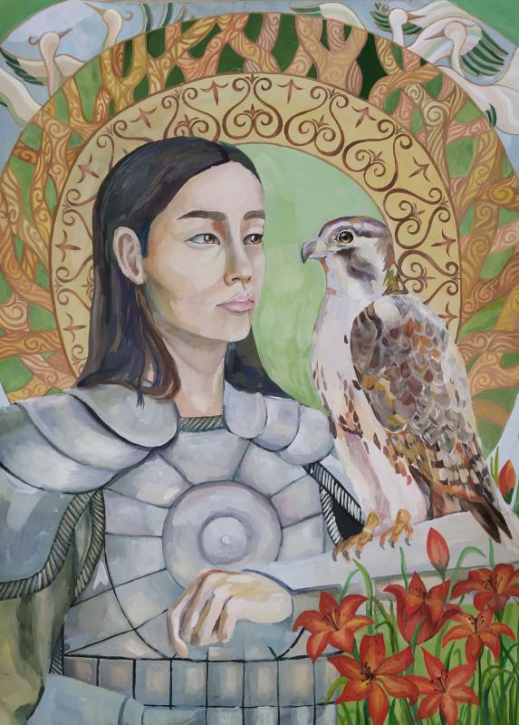 "Albina Vinokurova. Triptych ""Beauties of Yakutia. Olonkho"""