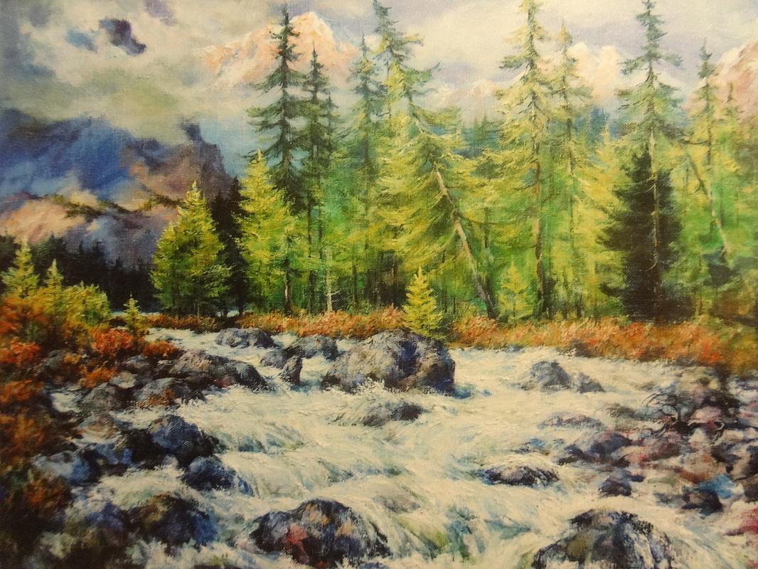 """Valery Petrovich Erofeevsky. """"To Katun"""", 2005, oil on canvas, 69x89"""