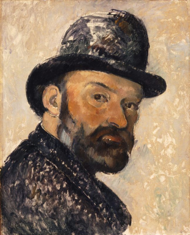 Paul Cezanne. Self-portrait in bowler hat
