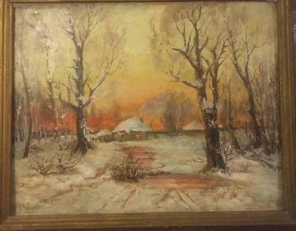 Fedorov F. Winter. Sunset.