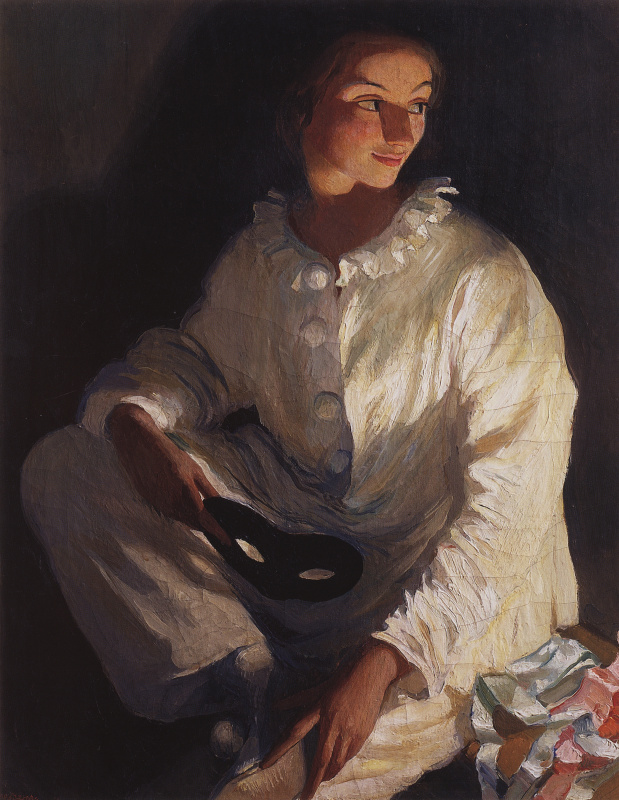Зинаида Евгеньевна Серебрякова. Автопортрет в костюме Пьеро