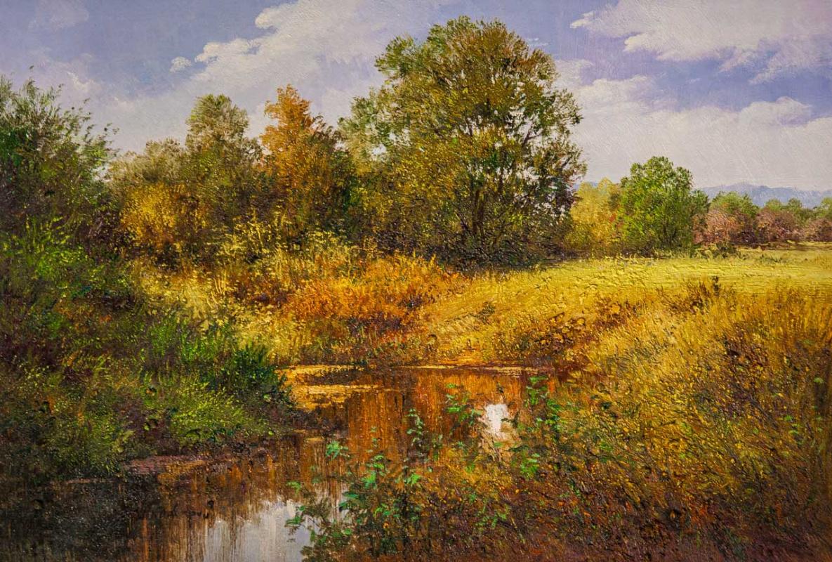 Andrey Sharabarin. Пейзаж в осенних тонах. У реки