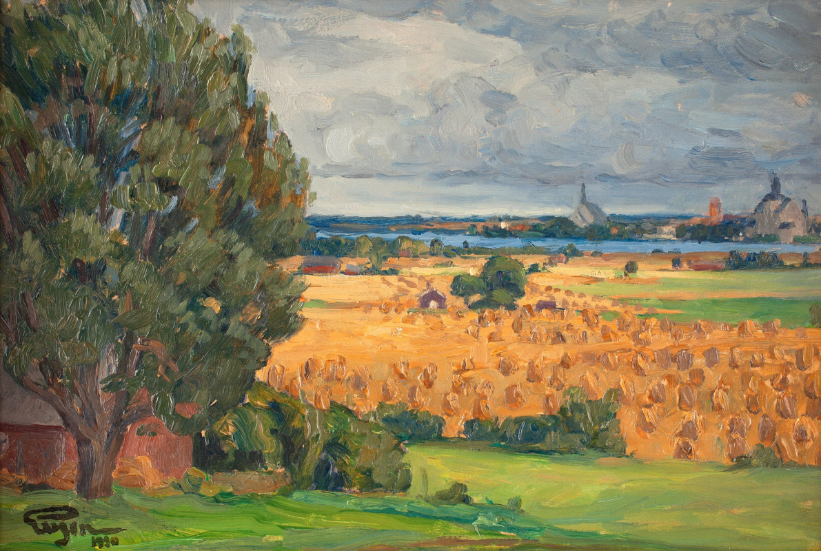 Prince Eugene. View of Vadstena from the surrounding fields