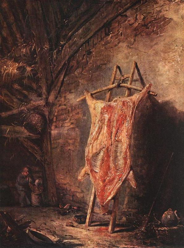 Исаак Янс ван Остад. Туша свиньи