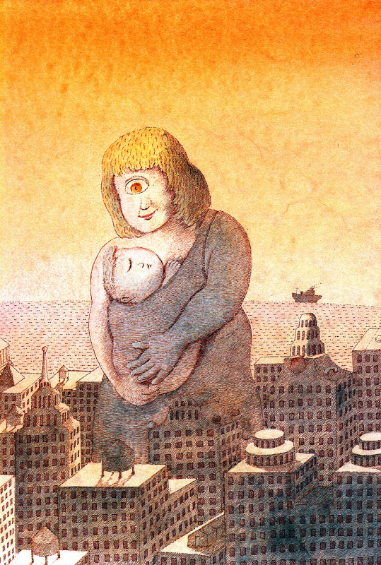 Питер Сис. Мать колышет ребенка