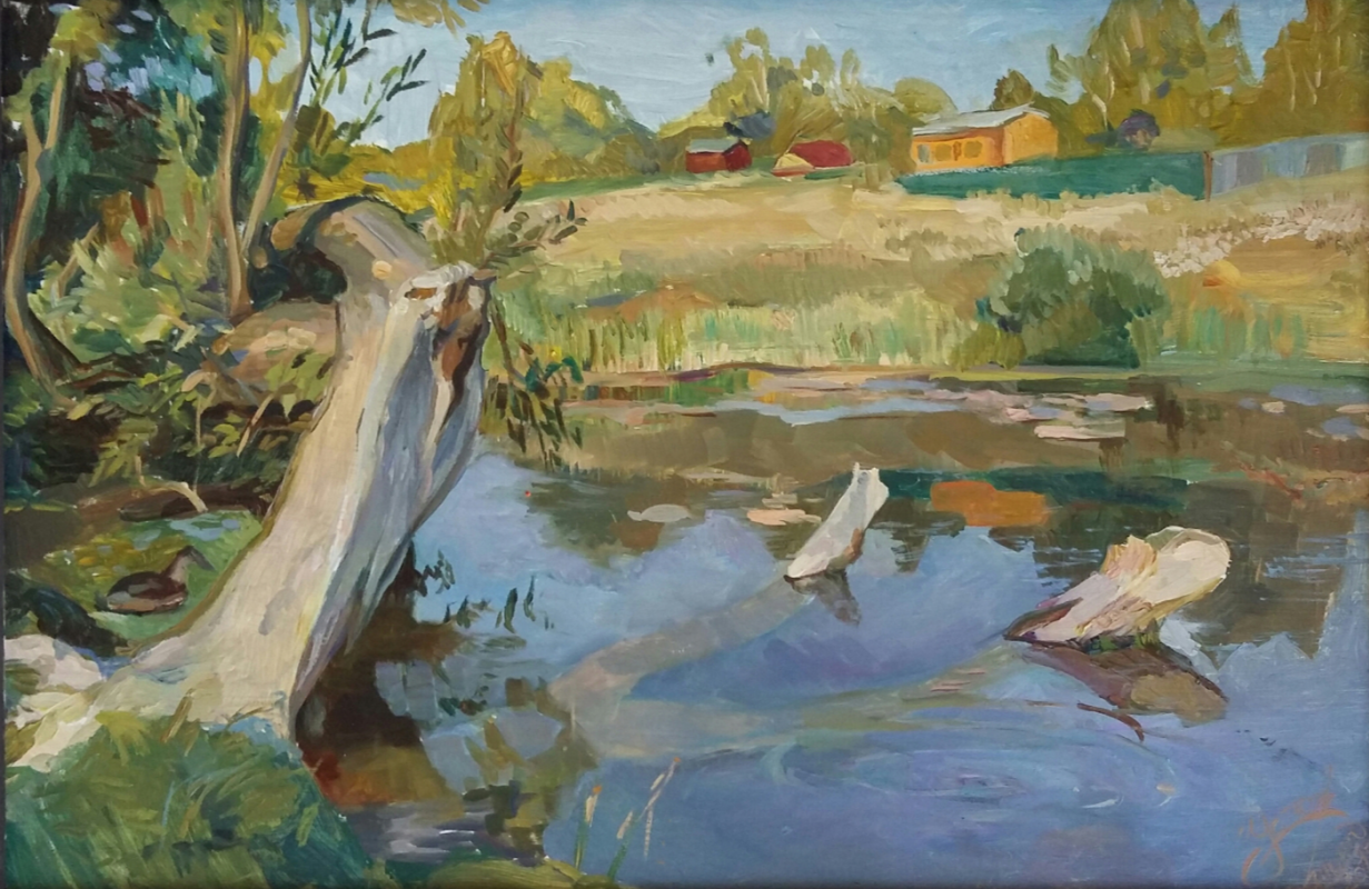 Валкрия Александровна Устюжанина. Landscape with a duck