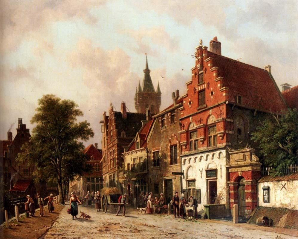 Adrianus Eversen. View of Delft