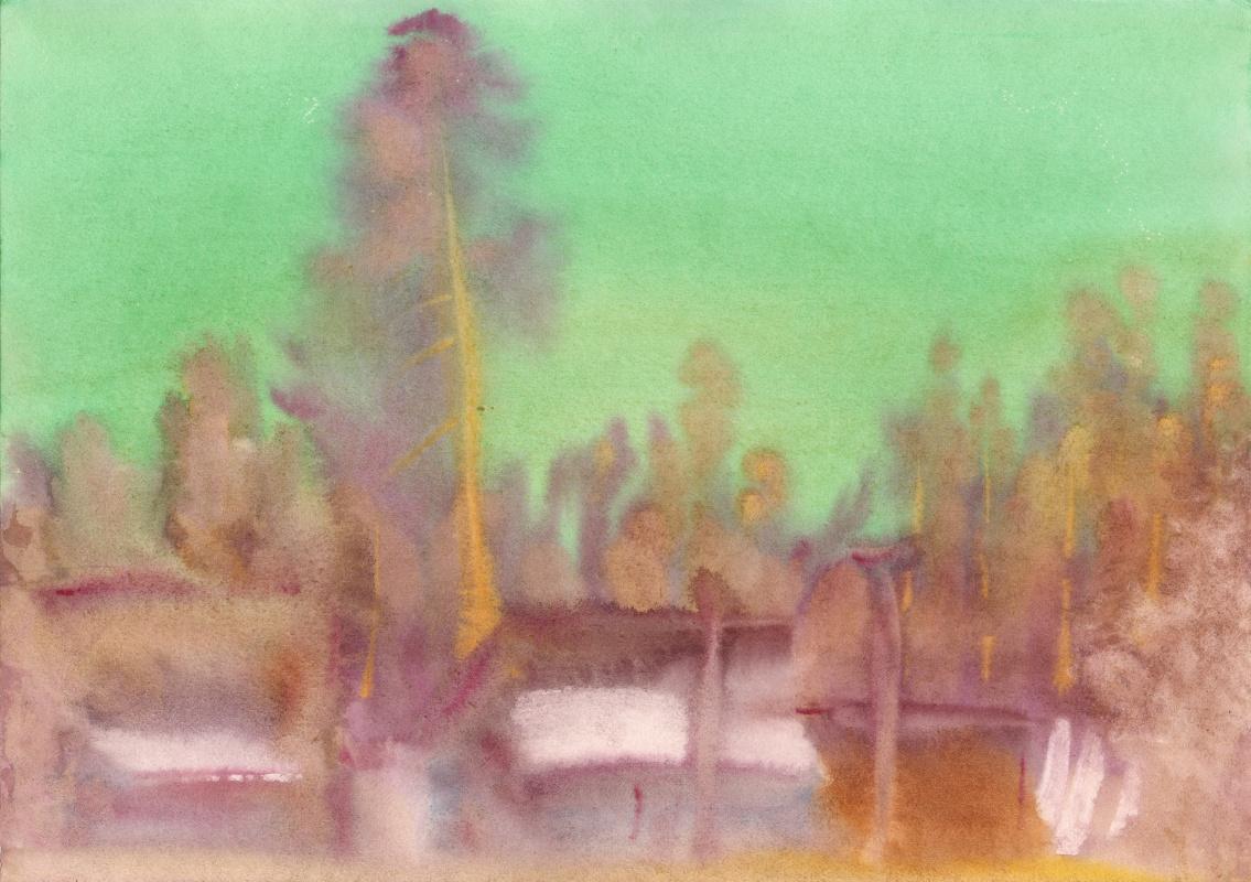 Вячеслав Крыжановский. Pines beyond the hill (state 2).