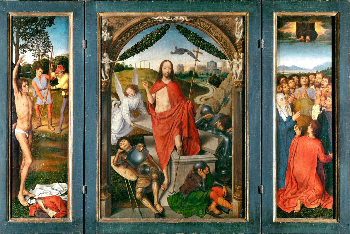 Hans Memling. Triptych of the Resurrection of Christ