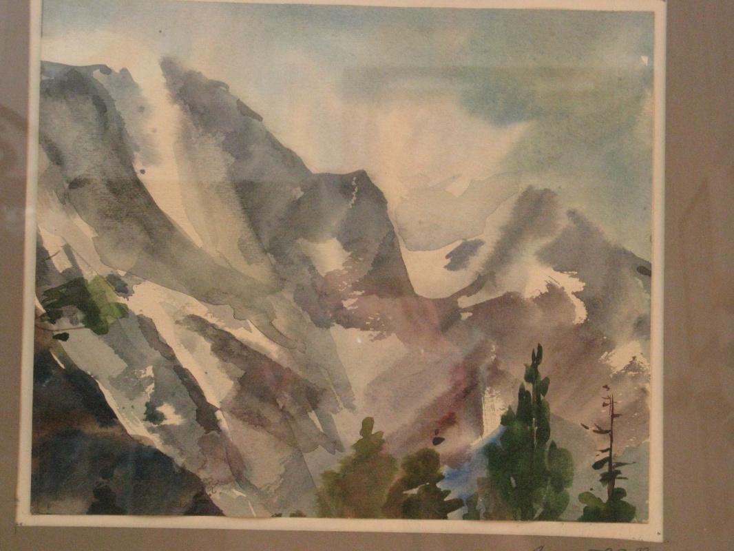 Svyatoslav Petrovich Skorobogatov. Snow peaks