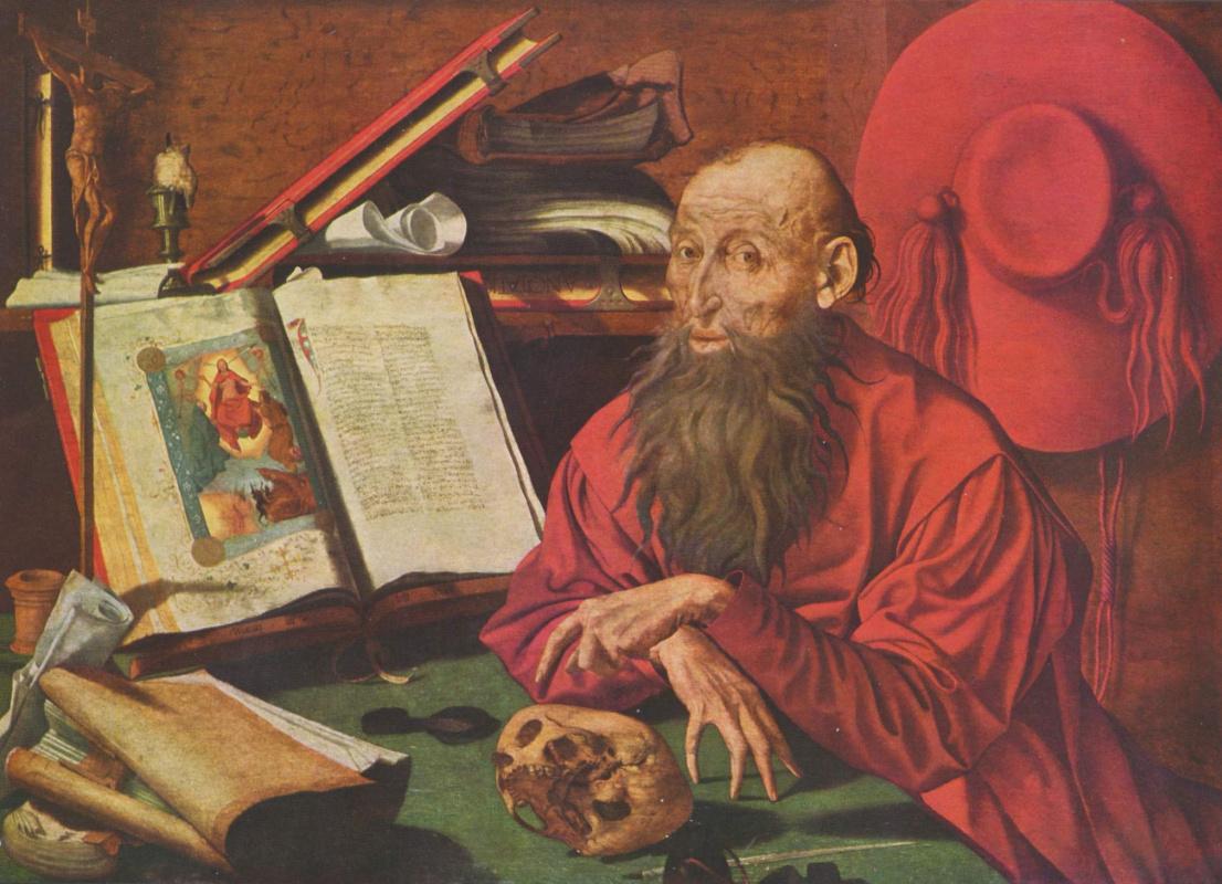 Маринус ван Реймерсвале. Св. Иероним в келье