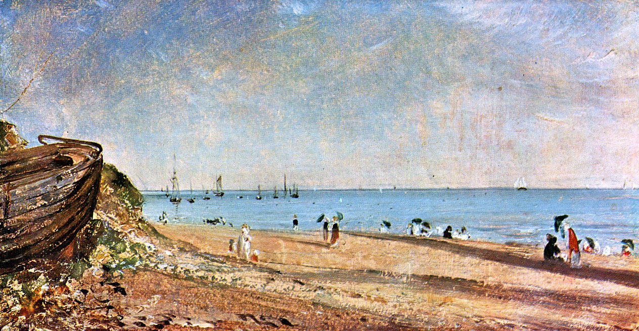 John Constable. The coast in Brighton, Sussex