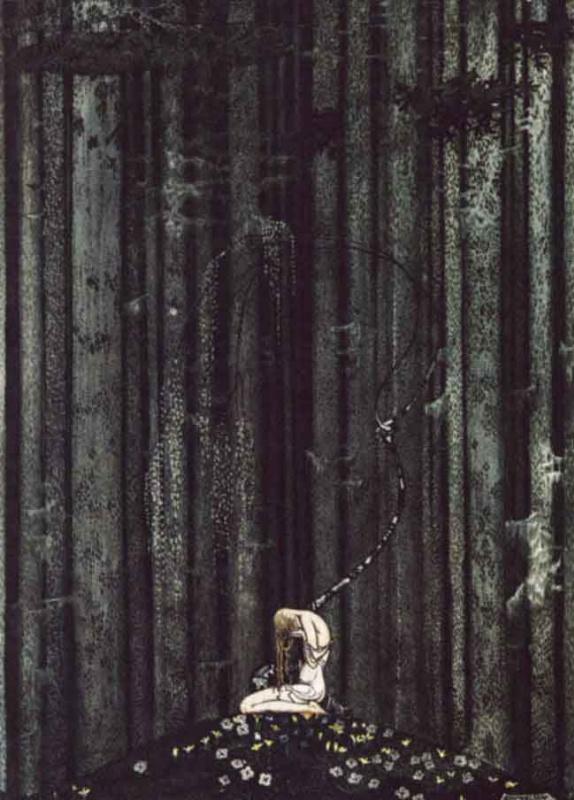 Кей Нильсен. Иллюстрация к  сказке  На восток от солнца, на запад от луны 01
