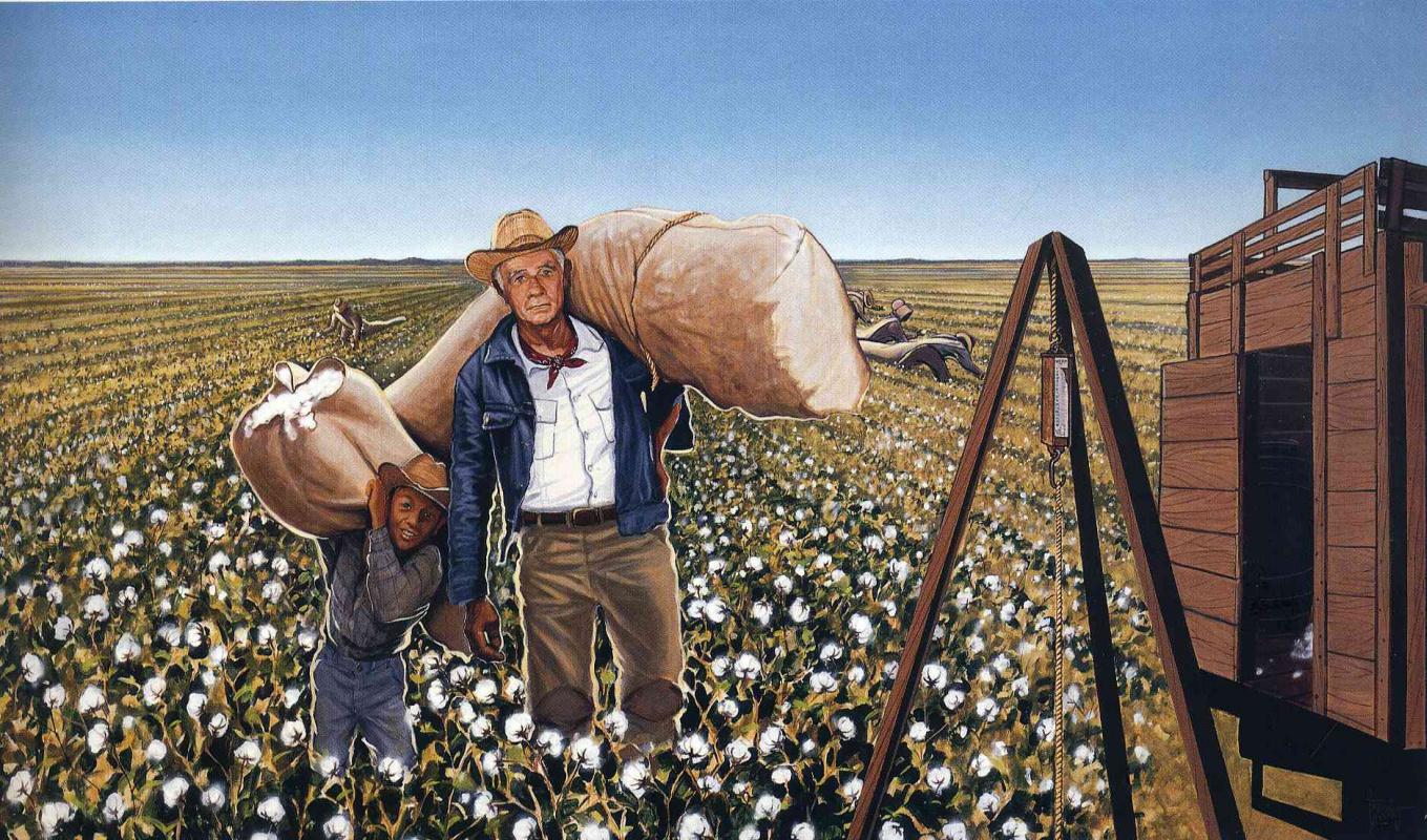 Chich Marin. Picking cotton
