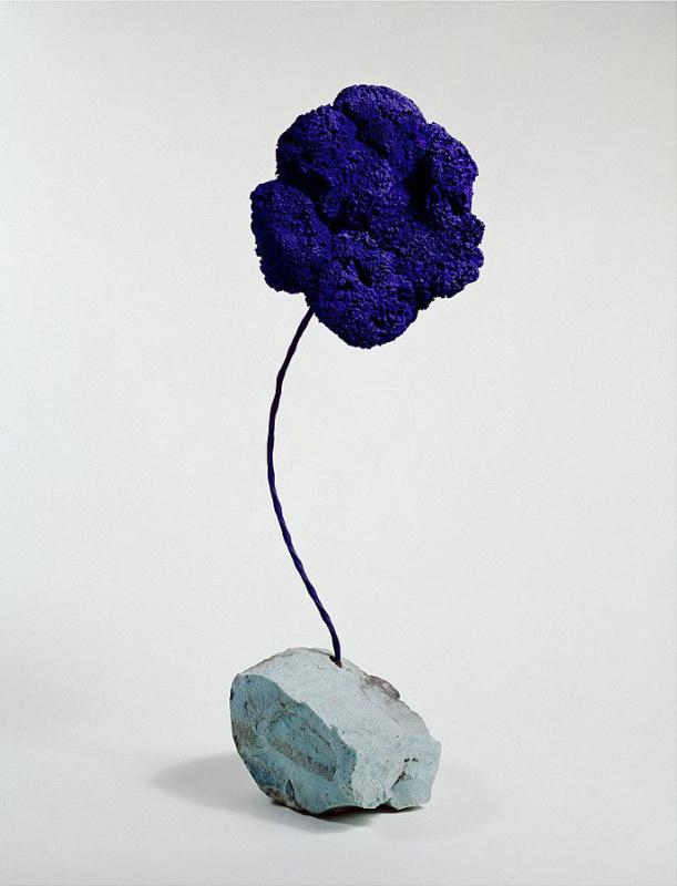 Yves Klein. Blue sponge