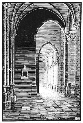 Maurits Cornelis Escher. New Kirk, Delft