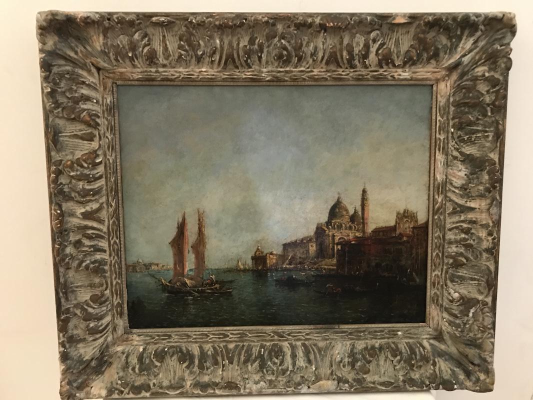Francesco Guardi. Venetian Canal