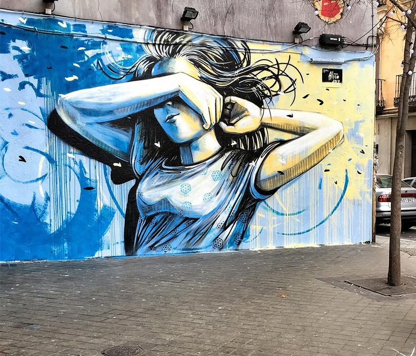 Alice Pascini. Mural in Madrid