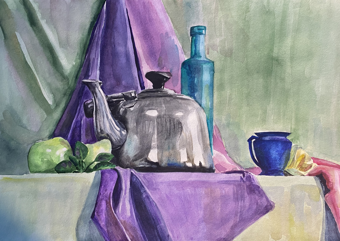 Unknown artist. Blue and purple