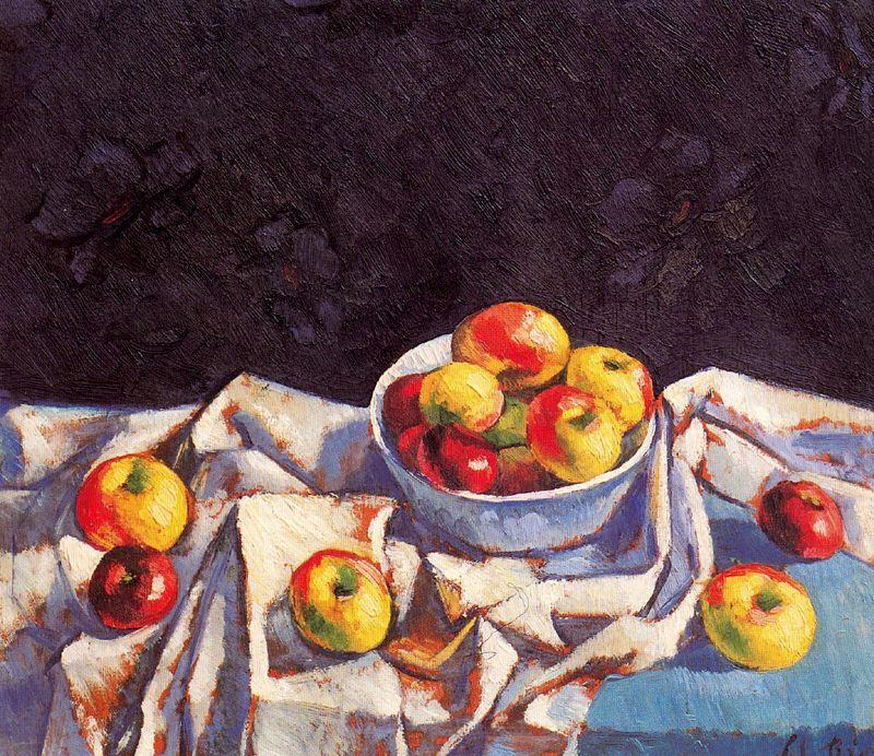 Manuel Del Rio Manuel. Still life with apples