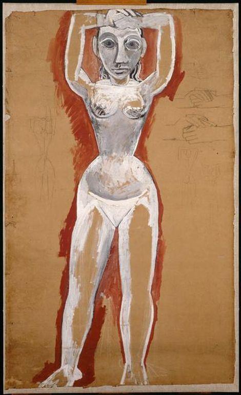 """Pablo Picasso. Sketch for """"Avignon maidens"""""""