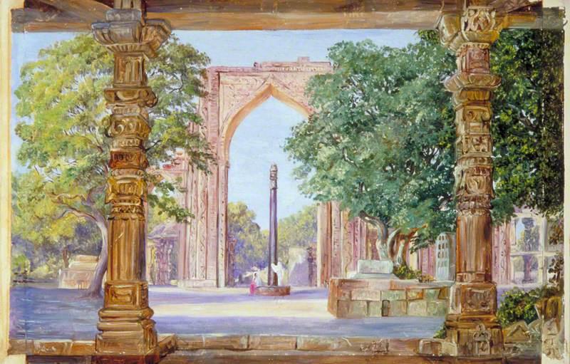 Marianna North. Iron pillar in Old Delhi, India