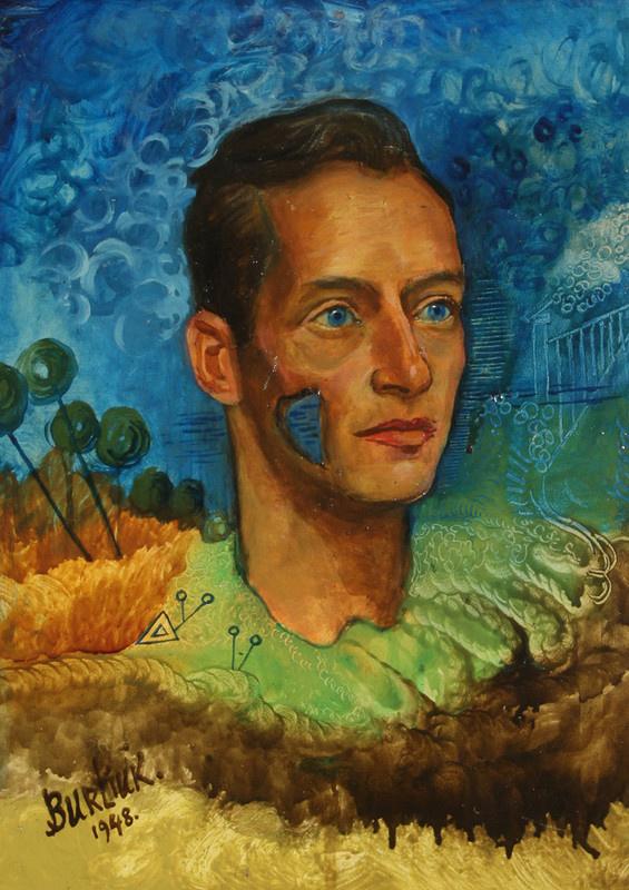 David Davidovich Burliuk. Portrait of a man, possibly Pavel Chelishchev