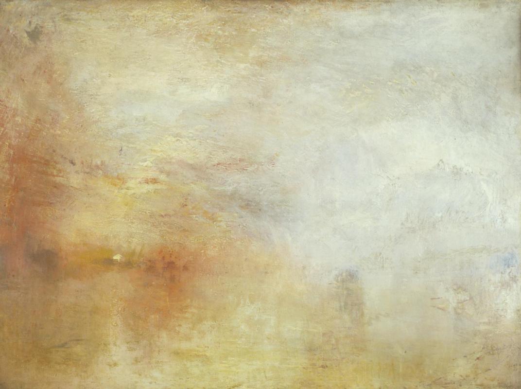 Joseph Mallord William Turner. Sunset over the lake