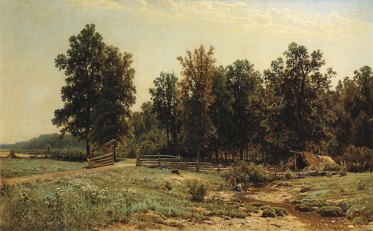 Иван Иванович Шишкин. На окраине дубового леса