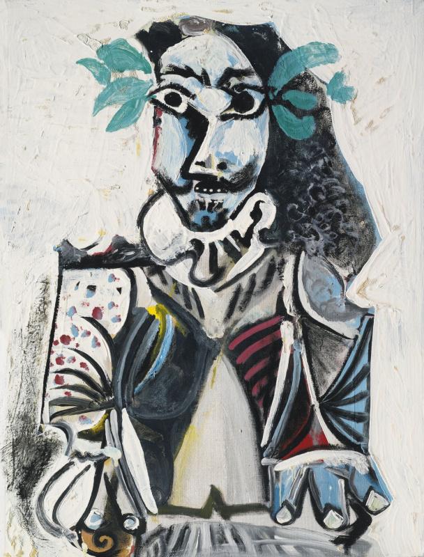 Пабло Пикассо. Бюст мужчины, увенчанного лаврами