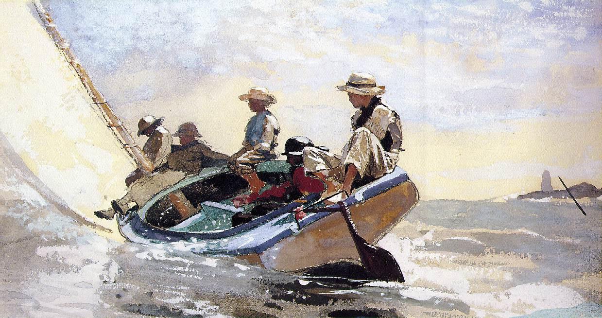 Winslow Homer. Boat sailing