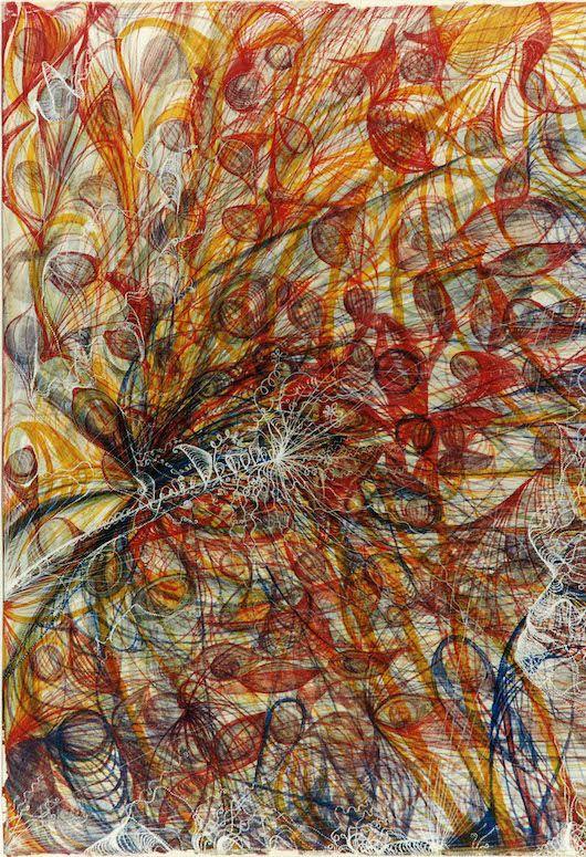 Georgiana Houghton. The eye of the Creator (detail)